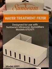 Sunbeam Water Treatment Filter Model 6521-100 For Sunbeam Humidifiers 660/671