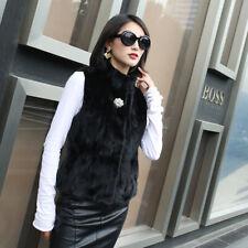 2019 new Real mink Vest coat Fur jacket fashion Luxury Women  Short Fur Gilets