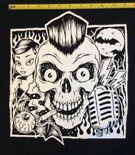 PSYCHOBILLY FACE  big back patch  punk rockabilly