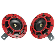 Dual Tone Red Grille 139DB Mount Super Loud Car Speaker Horn New For Holden