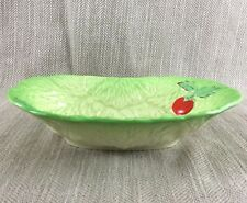 Beswick Cabbage Leaf Bowl Majolica Tomatoes Salad Serving Dish