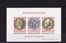 MONACO  rare bloc 66 non dentelé musée  timbre et monnaies 1994 ** cote 220euro