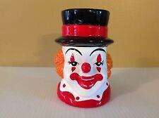 Vintage Rubens Originals Ceramic Clown Head Planter Vase Retro Circus 60s Mug