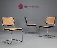Thonet S32 Freischwinger - Bauhaus Klassiker Stuhl Schwarz - Breuer Chairs