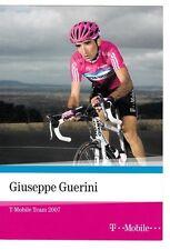 CYCLISME  carte cycliste GIUSEPPE GUERINI équipe T MOBILE