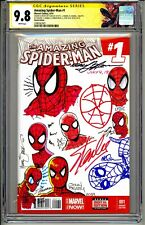 💥AMAZING SPIDER-MAN #1 CGC SS 9.8 SIGNED & SKETCHED STAN LEE & 8 LEGENDS RARE💥