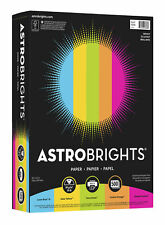 Astrobrights Colored Paper 8 12 X 11 Inches Assorted Bright Colors Pack Of