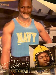 Vintage Bo Jackson Poster 1980's Navy Pilot Poster
