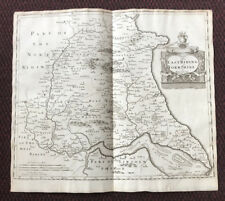 1695 MAP of EAST RIDING of YORKSHIRE Original English Antique Map Robert Morden
