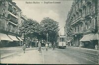 Ansichtskarte Baden-Baden 1918 Sophien-Strasse Straßenbahn Personen  (Nr.9642)