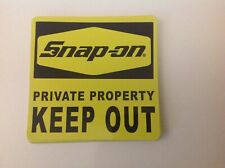 Snap-On Tools Tool Box Sticker Decal Private Property KEEP OUT New