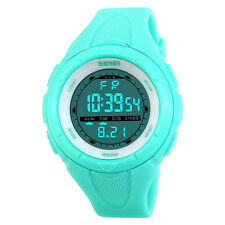 Sports Women 5 ATM Waterproof Shock Watch Military Led Digital Wrist Watches