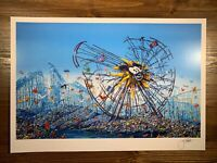 Jeff Gillette Split Mickey Mouse Ferris Wheel Art Print Signed Disney Dismaland