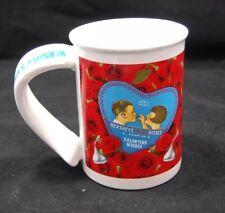 HERSHEY'S KISSES KISS YOU SWEETHEART VALENTINE WISHES ROSES COFFEE MUG TEA CUP