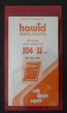 Hawid Stamp Mounts Size 106/55 CLEAR Pack of 20