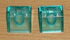 Lego 2 Dachsteine 45 2 x 2 in transparent türkis