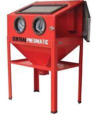 60 gallon 40 lb Sandblaster Sand Abrasive Cabinet w Gun, Hose, Nozzles, Gloves