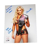 WWE CHARLOTTE HAND SIGNED AUTOGRAPHED 8X10 PHOTOFILE PHOTO INSCRIBED W/PROOF 8