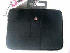"Swiss Wenger 10"" Legacy Netbook Padded Sleeve Tablet iPad Travel Computer Black"