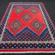 Orient Teppich Berber 297 x 207 cm Rot Blau Handgeknüpft Red Carpet Rug Tappeto