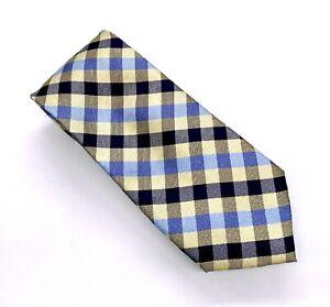 Tommy Hilfiger Tie Beautiful Yellow Black Blue Geometric Silk 58 x 3 China New