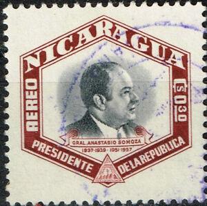Nicaragua Strongman President Anastasio Somoza stamp 1957 A-1