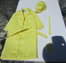 Vintage Barbie Doll Stormy Weather Rain Set #949 1963 Coat Hat Belt Umbrella