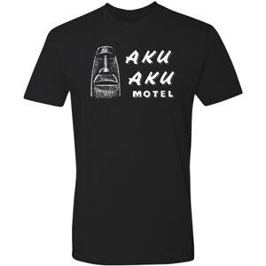 Retro Tiki Art Tee T Shirt Bar Mug Restaurant Aku Aku Motel Polynesian