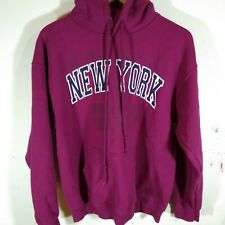 Gildan Women's  Hoodie  Dark Pink New York Size M Medium