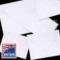 White Square Envelopes = 4 inch 5 inch 6 inch - 105mm 130mm 155mm