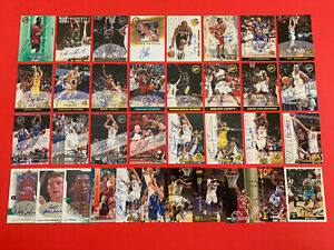 Lot of (35)  NBA Basketball Autographed Cards; Various Brands/Yrs -Semi Stars