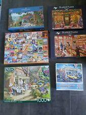 6er Set Puzzles, 5x 1000 Teile, 1x 636 Teile