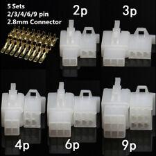 5 Sätze Kfz-Elektrik 2,8 mm 2 3 4 6 9-polige Crimp-Kabelanschlussklemme