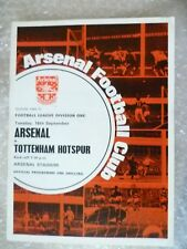 1969-70 Arsenal v Tottenham Hotspur, 16th Sept with Voucher