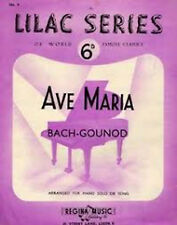 Lilac Series No 1 Ave Maria Bach - Gounod Piano Sheet Music Book S22
