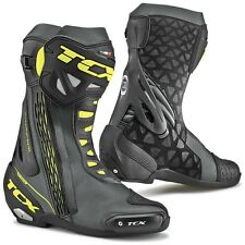 STIVALI BOOTS MOTO RACING SPORT TCX RT-RACE NERO GIALLO FLUO BLACK YELLOW TG 42