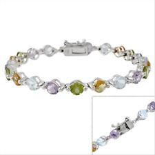 925 Silver Amethyst Citrine Topaz Tennis Bracelet