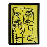 """PAINTING ORIGINAL ACRYLIC ON FIBERBOARD (FRAME INCLUDED) 5x7"""" CUBAN ART by LISA."""