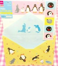 Pingu Penguin Letter Set / Made in Japan DAISO Stationery Yellow