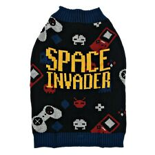 Vibrant Life Dog Sweater - Space Invader - Large 50-90 lbs