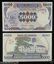 Uganda Paper Money 5000 Shillings 1986 UNC