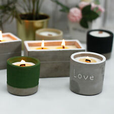 Concrete Wooden Wick Candles Crackling Soy Candles - Christmas Light up -Wedding