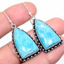 "Larimar Gemstone Handmade Ethnic Fashion Jewelry Earring 1.9"" SE7569"