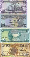 IRAQ RADAR SERIAL # SET 50 250 500 1000 DINAR UNC