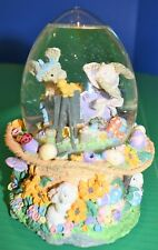 Beautiful Egg Shaped Easter Musical Snow Globe