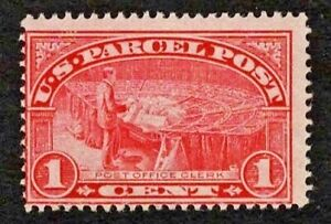 US 1913 #Q1 Parcel Post 1c PO Clerk Mint HR MHR