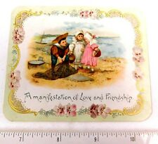Lovely A Manifestation of Love and Friendship Kids Beach Scene Adorable Card F49