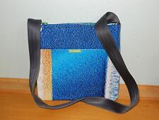 HOT GARBAGE BLUE RETRO MESSENGER BAG RECYCLED MATERIAL PURSE NICE!