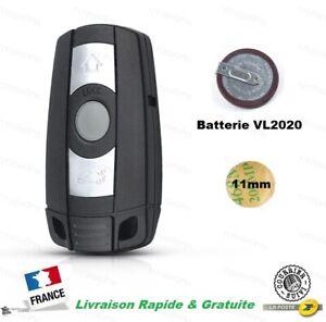 Coque Clé BMW E81 E87 E90 E92 E60 X5 X6 Télécommande 3 Boutons + Batterie VL2020