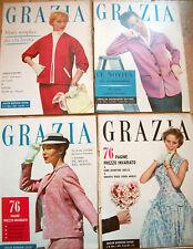 1955 'GRAZIA' LOTTO DI 4 RIVISTE DI MODA COSTUME E SOCIETA'